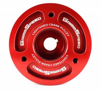 Engine Components - Pulleys - GrimmSpeed - GrimmSpeed Subaru Red Lightweight Crank Pulley