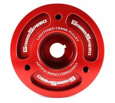 GrimmSpeed Subaru Red Lightweight Crank Pulley
