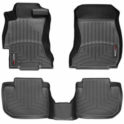 WeatherTech - WeatherTech Front and Rear Floorliners Black
