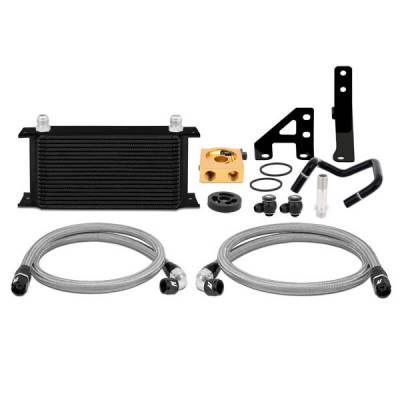 Cooling - Oil Coolers - Mishimoto - Mishimoto Thermostatic Oil Cooler Kit - Black