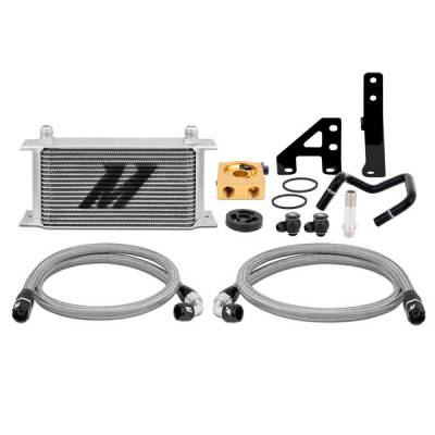 Cooling - Oil Coolers - Mishimoto - Mishimoto Thermostatic Oil Cooler Kit - Silver