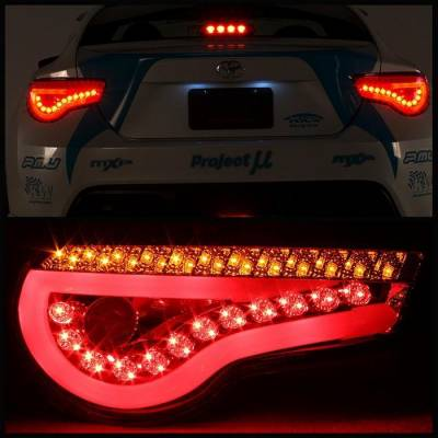 Spyder Auto - Spyder LED BRZ & FR-S Tail Lights JDM Red - Image 2