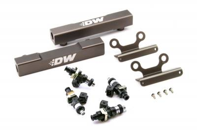 Fuel System - Fuel Rails - DeatschWerks - DeatschWerks Fuel Injectors 750cc w/ Top Feed Fuel Rails