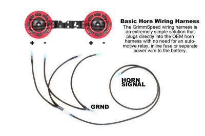 GrimmSpeed - GrimmSpeed Wiring Harness for Hella Horns - Image 2