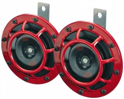 Aero - Body Accessories - Hella -  Hella Supertone Horn Kit 500HZ Red