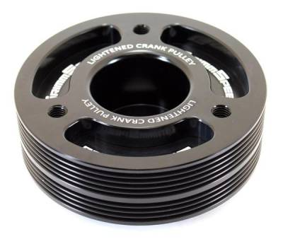 Engine Components - Pulleys - GrimmSpeed - GrimmSpeed Subaru Black Lightweight Crank Pulley