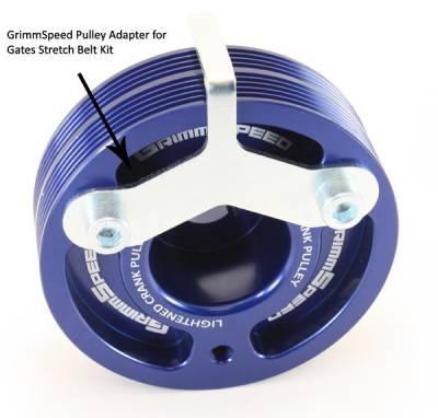 ENGINE - GrimmSpeed - GrimmSpeed Gates Stretch Belt Pulley Adapter