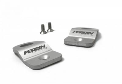 Engine Dress Up - Radiator Caps & Stays - Perrin Performance - Perrin Upper Radiator Brackets Silver
