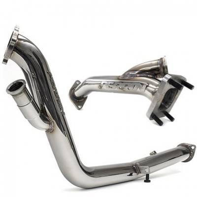 Exhaust Systems - Up-pipes - Perrin Performance - Perrin Rotated Turbo Downpipe Uppipe Combo