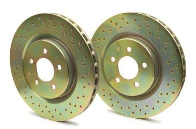 Brakes - Brake Rotors - Brembo - Brembo Sport Brake Rotor Pair Drilled Rear
