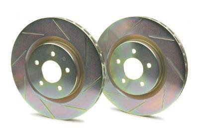 Brembo - Brembo Sport Brake Rotor Pair Slotted Front
