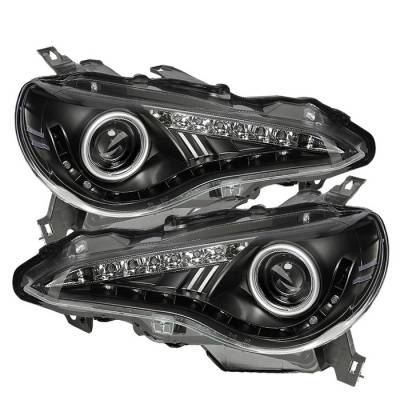Spyder Auto - Spyder Scion FR-S Projector Headlights - DRL LED - Black