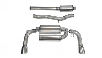 Corsa - Corsa Catback Exhaust System Black Tips