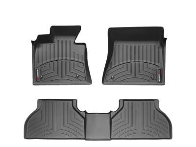All Products - WeatherTech -  WeatherTech Front and Rear Floorliners Black