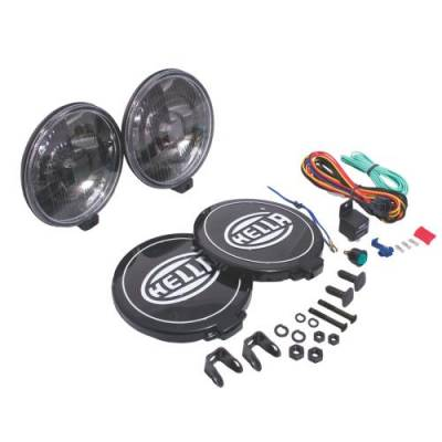 Rally Equipment - Lights - Hella - Hella 500 Series 12V Black Magic Halogen Driving Lamp Kit