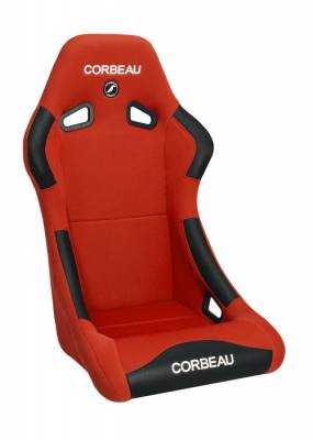 Interior Components - Seats - Corbeau - Corbeau Forza Red Cloth