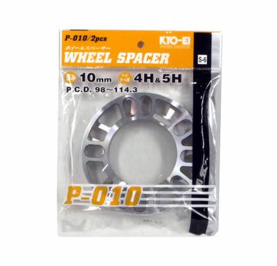 Wheels - Wheel Spacers - Project Kics - KICS Wheel Spacers 10mm Twin Pack Universal
