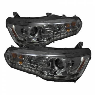 Spyder Auto - Spyder Evo X Projector Headlights - DRL - LED - Smoke
