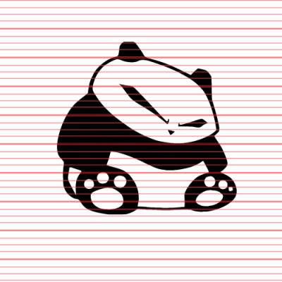 Brand Merchandise - Decals - Avery - Angry Panda Decal