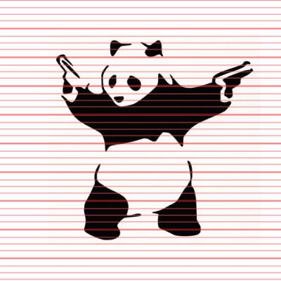 MERCHANDISE - Avery - Armed Panda Decal