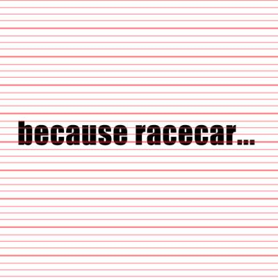 MERCHANDISE - Avery - Because Racecar v1 Decal