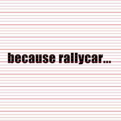 MERCHANDISE - Avery - Because Rallycar Decal