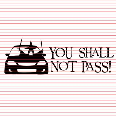 MERCHANDISE - Avery - You Shall Not Pass (Civic) Decal