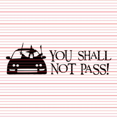MERCHANDISE - Avery - You Shall Not Pass (Integra) Decal