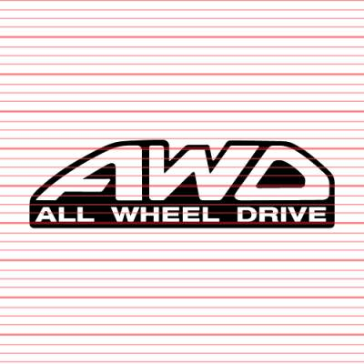 MERCHANDISE - Avery - All Wheel Drive Decal