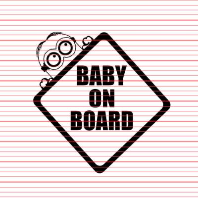 Brand Merchandise - Decals - Avery - Baby on Board Minion Decal