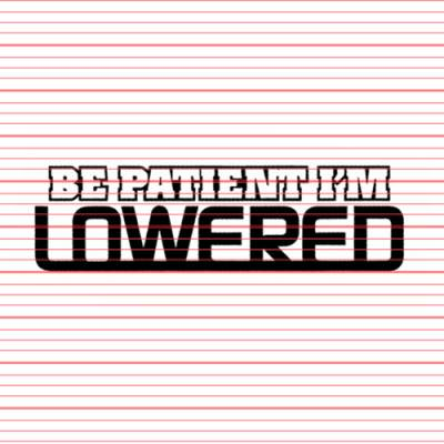 MERCHANDISE - Avery - Be Patient I'm Lowered Decal