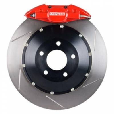 StopTech Front ST40 355x32 Slotted Rotors Red Calipers
