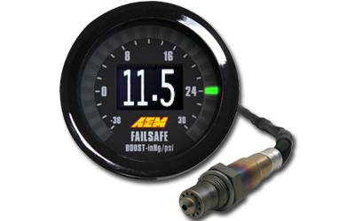 Gauges - Air & Fuel - AEM Induction - AEM UEGO Failsafe Wideband AFR/Boost Gauge
