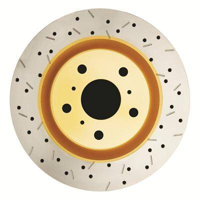 Brakes - Brake Rotors - Disc Brakes Australia - DBA 4000 Series Drilled/Slotted Rotor Single Front