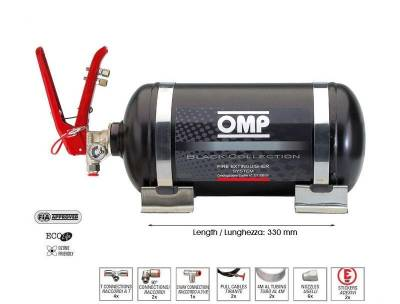 Rally Equipment - Fire Suppression - OMP - OMP 12.3LB Black Collection Mechanical Fire Extinguisher System