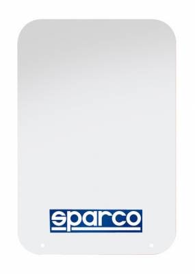 Rally Equipment - Mud Flaps - Sparco - Sparco White Universal Rally Mud Flaps (Pair)