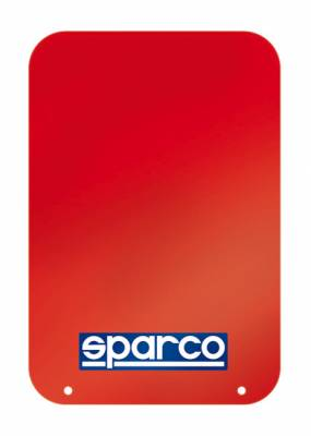 Rally Equipment - Mud Flaps - Sparco - Sparco Red Universal Rally Mud Flaps (Pair)