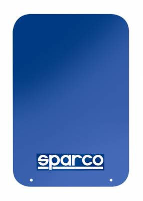 Sparco - Sparco Blue Universal Rally Mud Flaps (Pair)