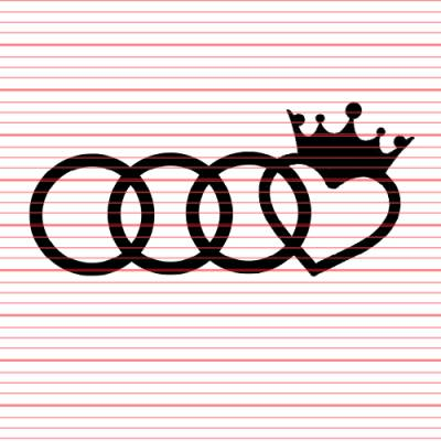 Brand Merchandise - Decals - Avery - Audi Crown Decal