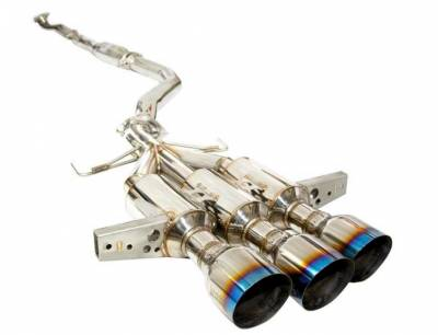 Invidia - Invidia Gemini R400 Cat Back Exhaust w/Titanium Burnt Tips