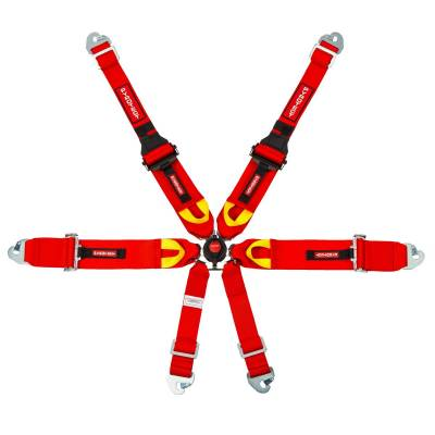 "Race Gear - Harnesses - Pyrotect - Pyrotect Ultra-Light 3"" FIA 6-Point Cam-lock Harness"